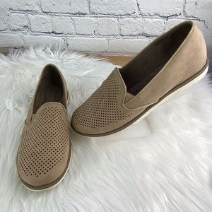 Natural Soul Perforated Slip On Tan Loafer Shoes